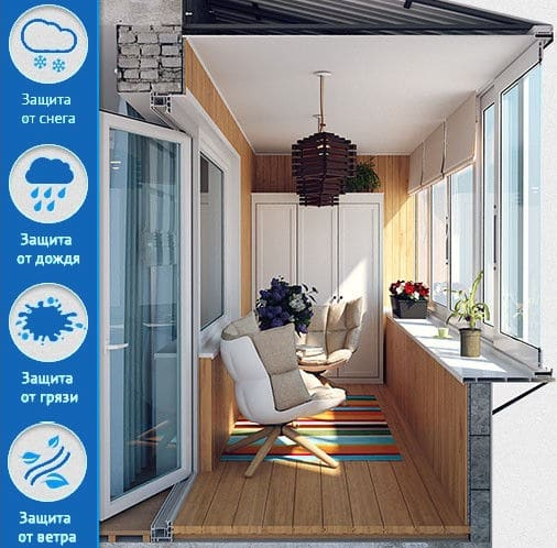 Отделка балкона или лоджии под комнату