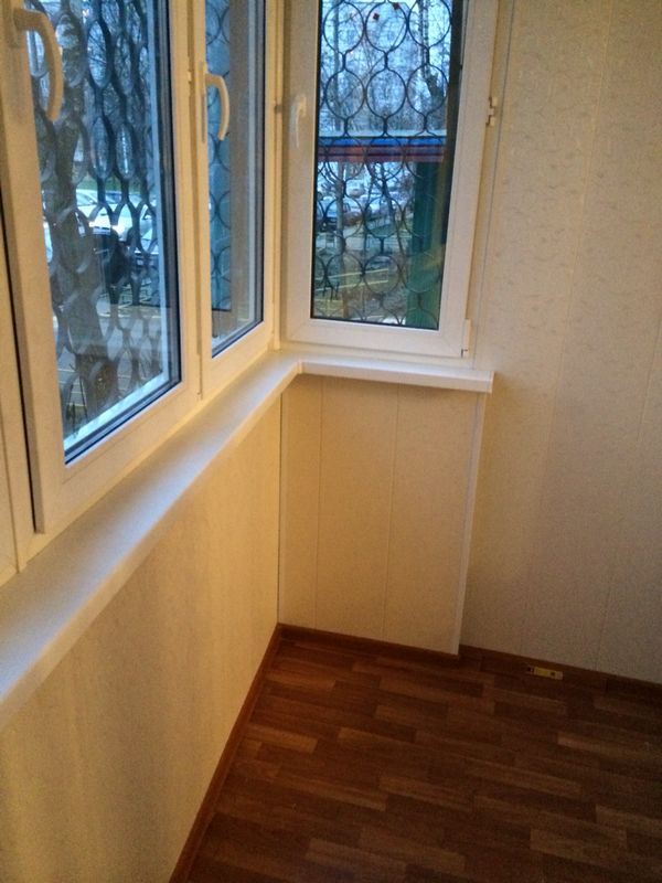 Отделка балкона под ключ - фото работ мираклим.